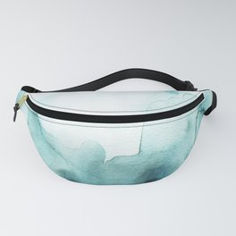 Soft teal abstract watercolor Fanny Pack