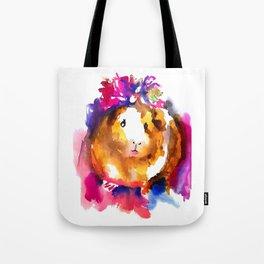 Guinea Pig in Flower Crown Tote Bag