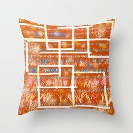 Orange Room Throw Pillow