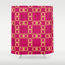 angle red & yellow Shower Curtain