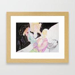 Max Meets Escher Framed Art Print