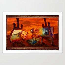 """""""Land Escape"""" Art Print"""