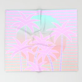 Hello Miami Sunrise Throw Blanket