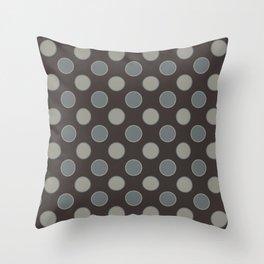 Oatmeal Stout Retro Polka Dot Print Seamless Pattern Throw Pillow