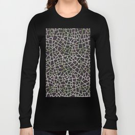 Crackle Magenta Suede Long Sleeve T-shirt