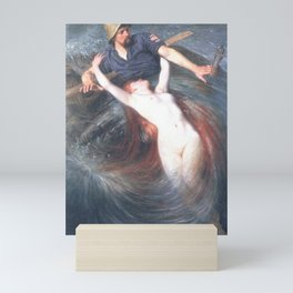 Siren and the fisherman by Knut Ekwall Mini Art Print