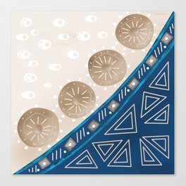 Abstract pattern brown blue . Canvas Print