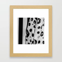 Holes And Stripes – Wallpaper And Leather Framed Art Print