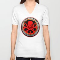hydra V-neck T-shirts featuring Hail Hydra by Sdog1982