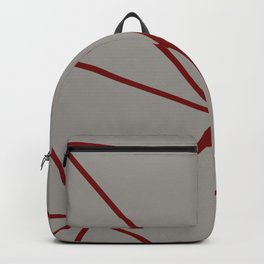 Geometric pattern shapes - beige and red Backpack
