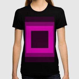 Dark Purple Square Design T-shirt