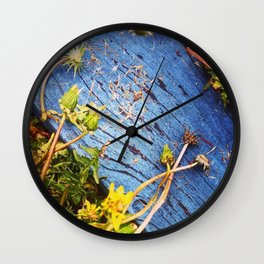 Dandelion Blue Wall Clock