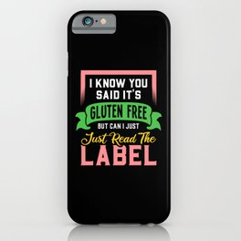 Celiac Awareness: It's Gluten Free iPhone Case