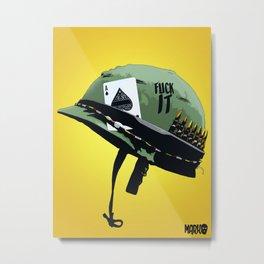 Vietnam war helmet Metal Print