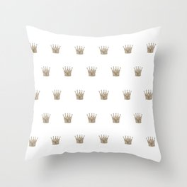 Vintage Crown Pattern Throw Pillow