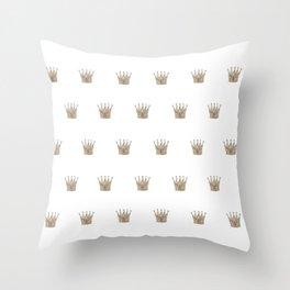 Vintage Crown Pattern Throw Pillow