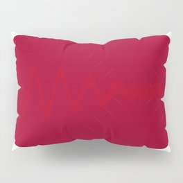 Maroon Imprint 2 Pillow Sham