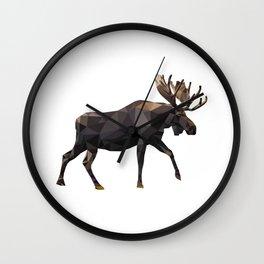 Polygon geometric Moose Wall Clock