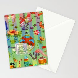 Chinese Green Chinois Stationery Cards