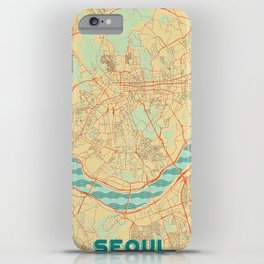 Seoul Map Retro iPhone Case