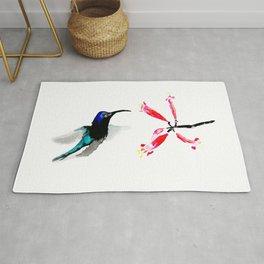 Hummingbird and Honeysuckle Rug