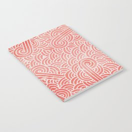 Peach echo and white swirls doodles Notebook