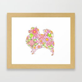 Pink Pomeranian Framed Art Print