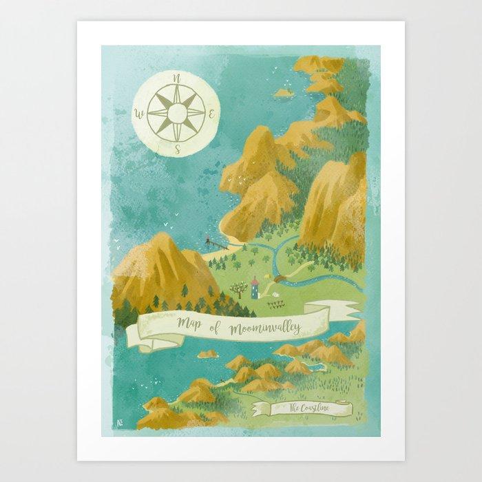 Moominvalley Map Interpretation (1/3) Kunstdrucke