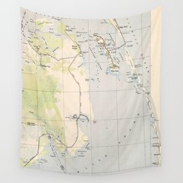 Vintage Map of Roanoke Island & Outer Banks NC Wall Tapestry