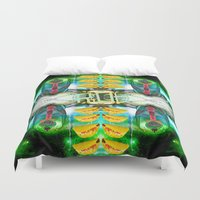 transformer Duvet Covers featuring RoboTaco by Riot Clothing