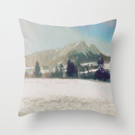 Winterly Landscape III Throw Pillow