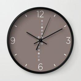 Brown vertical dots Wall Clock