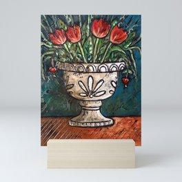 Tulips In Urn Mini Art Print