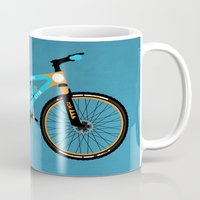 brompton Mugs featuring Mountain Bike by Wyatt Design