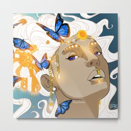 Butterflies Amazon Metal Print
