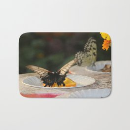 Butterfly Feeding Bath Mat