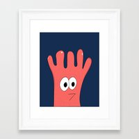 greg guillemin Framed Art Prints featuring Monster Greg by Chelsea Herrick