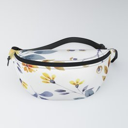 Yellow watercolor flowers Fanny Pack