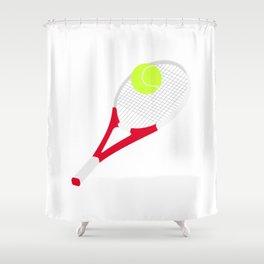 Tennis racket and tennis ball Shower Curtain
