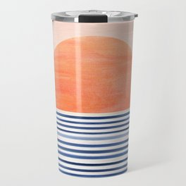 Summer Sunrise - Minimal Abstract Travel Mug