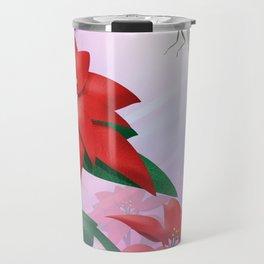 Dragonfly Poinsettia Travel Mug