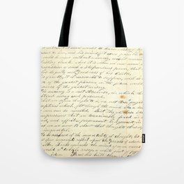 Vintage Writing Tote Bag