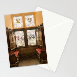 Edinburgh castle stained glass windows Scotland Stationery Cards