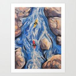 Headed Down Dangerous Waters Art Print