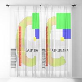 """Cocktail """"C"""" - Caipirinha Sheer Curtain"""