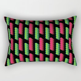 Red and Green Lights Rectangular Pillow