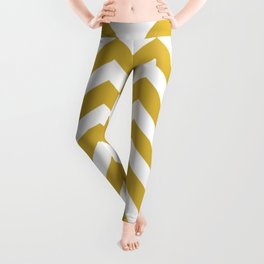 Metallic gold - brown color - Zigzag Chevron Pattern Leggings