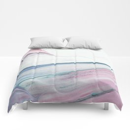 Waves of paint Comforters