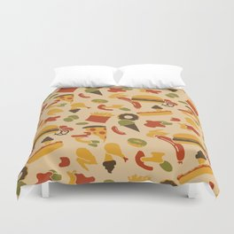 Fast Foodouflage Duvet Cover