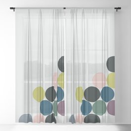 cluster || chill Sheer Curtain